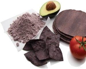 Suntava purple corn with ingredients